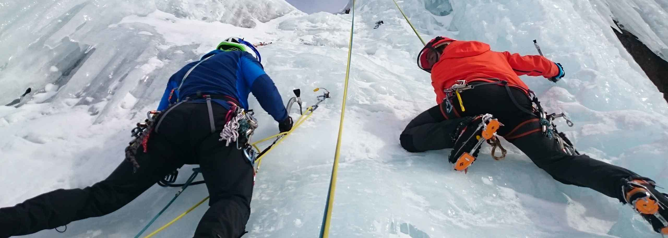 Ice Climbing in Cervinia with a Mountain Guide