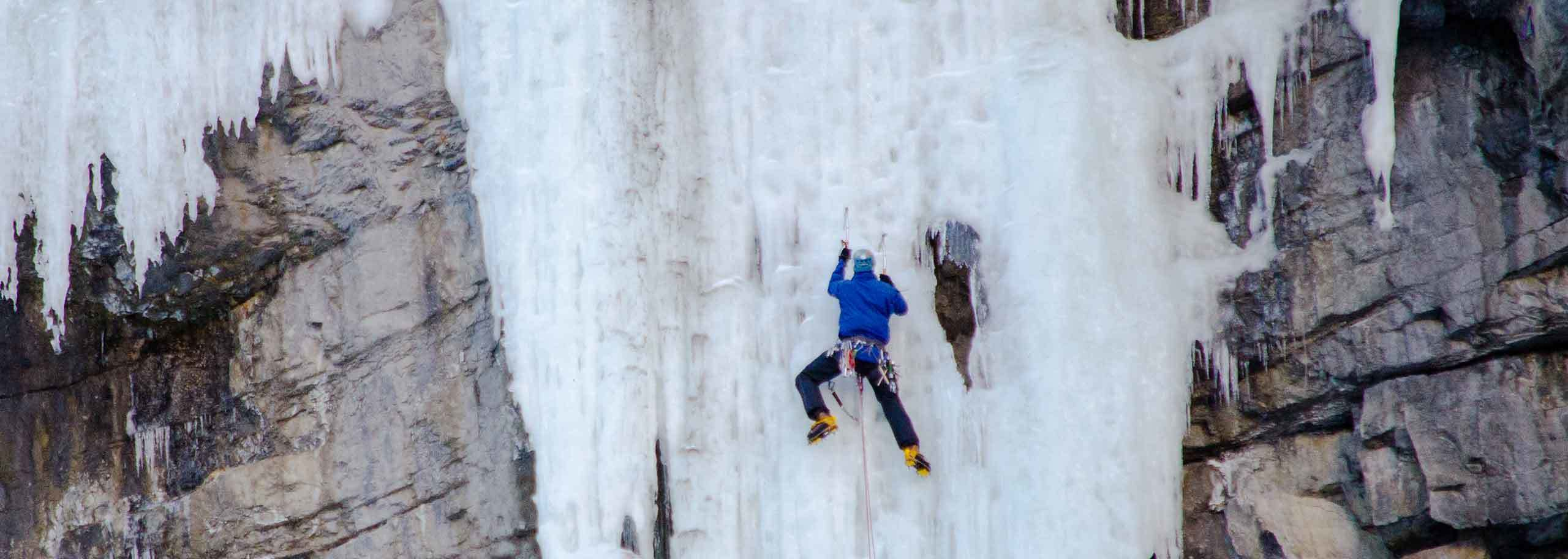 Ice Climbing in Courmayeur Mont Blanc with a Mountain Guide