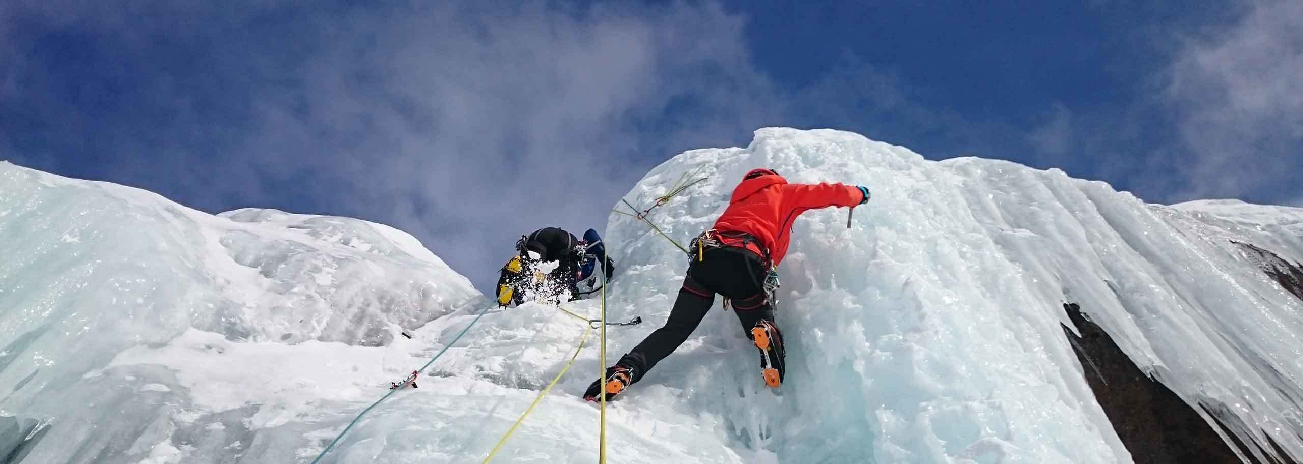 Ice Climbing in Alagna with a Mountain Guide