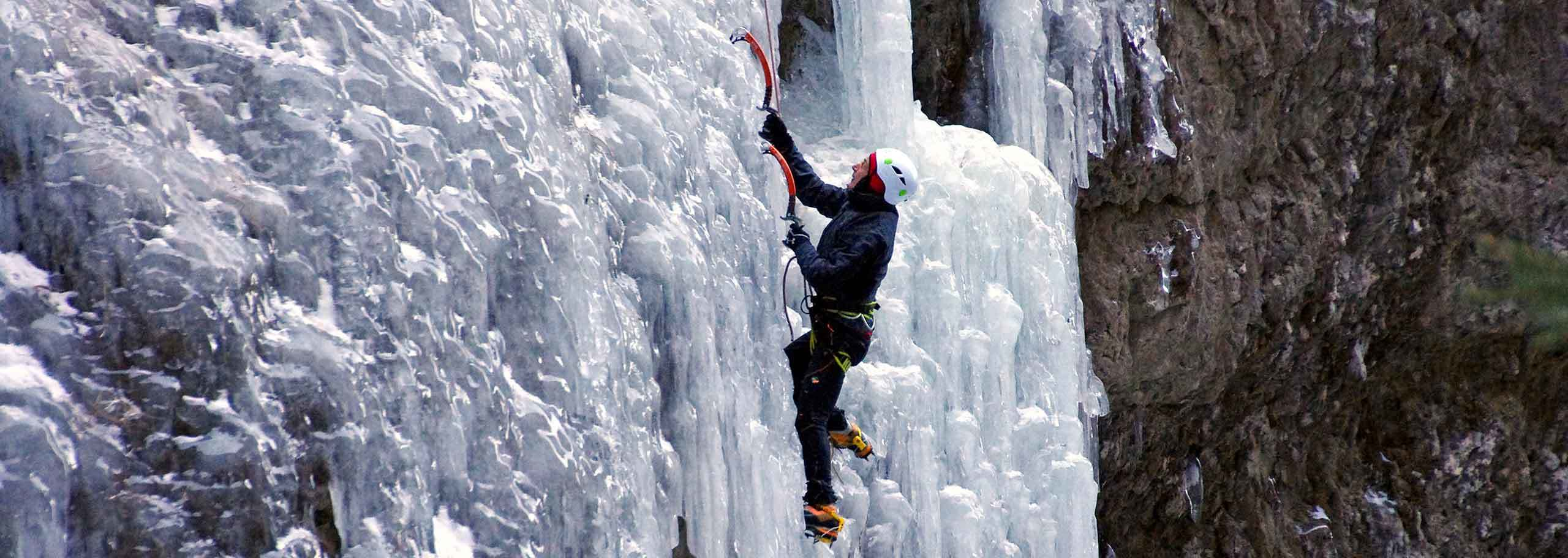 Ice Climbing in Sestriere with a Mountain Guide