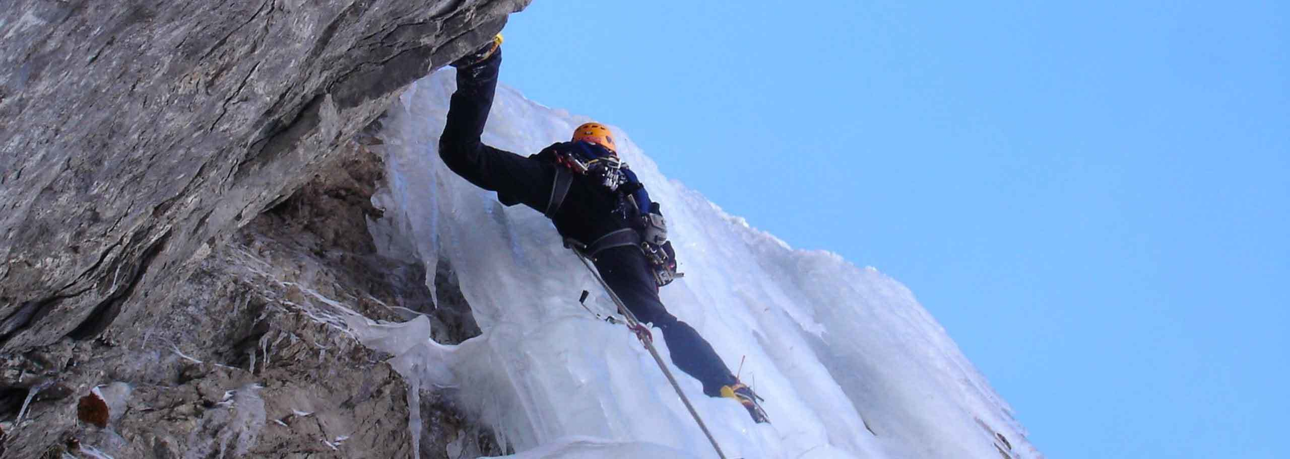 Ice Climbing in Champoluc with a Mountain Guide