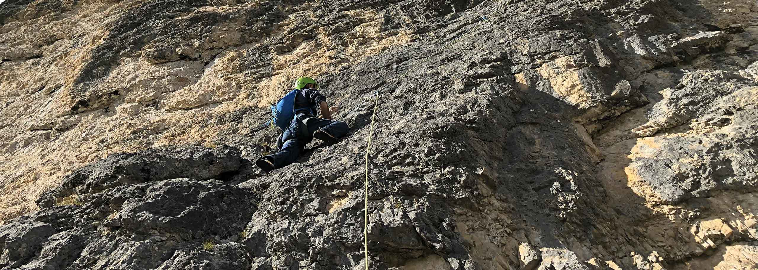 Climbing with a Mountain Guide in Obereggen in Val d'Ega