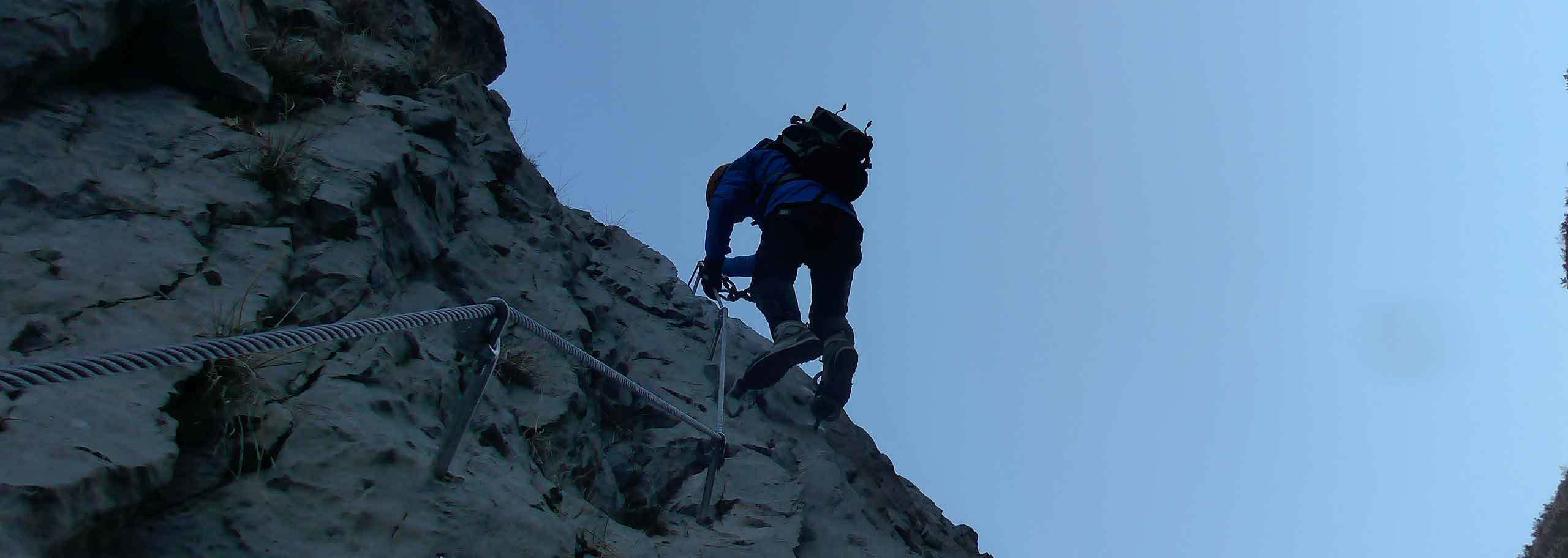Via Ferrata in Courmayeur Mont Blanc with Mountain Guide