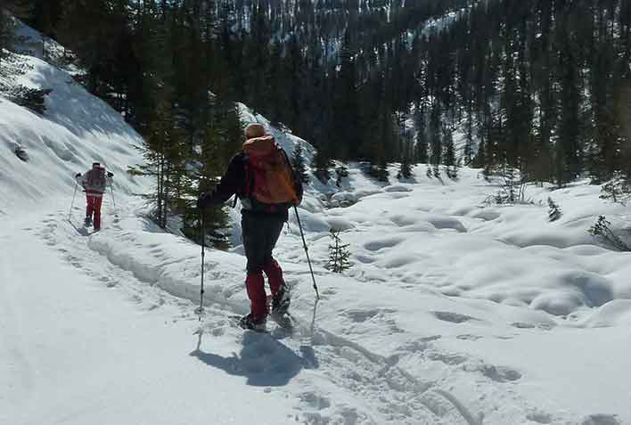 Snowshoeing in Valle Aurina and Valle di Tures