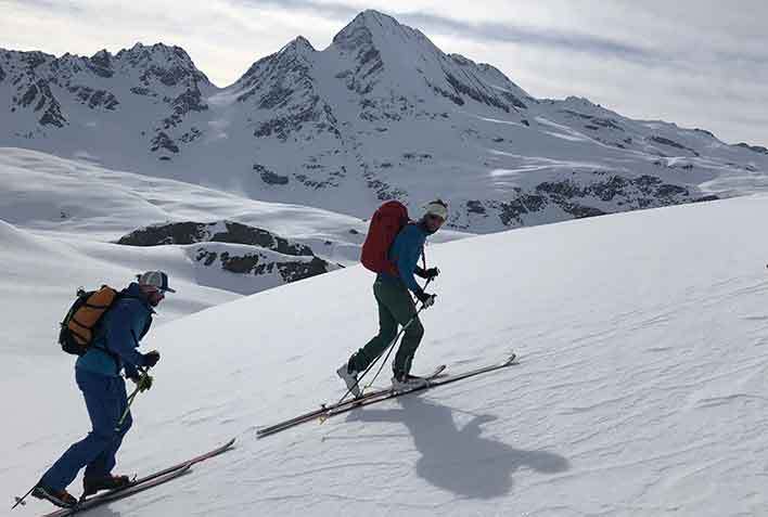 Ski Mountaineering in Crévacol, Great St. Bernard with Mountain Guide