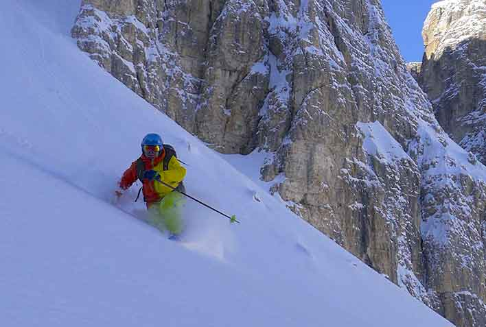 Off-piste Skiing with a Mountain Guide in Val di Fassa